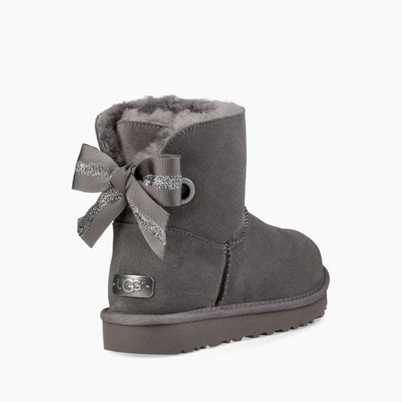 Угги UGG Mini Bailey Bow Customizable Charcoal