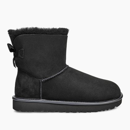 Угги UGG Mini Bailey Bow II Metallic Black