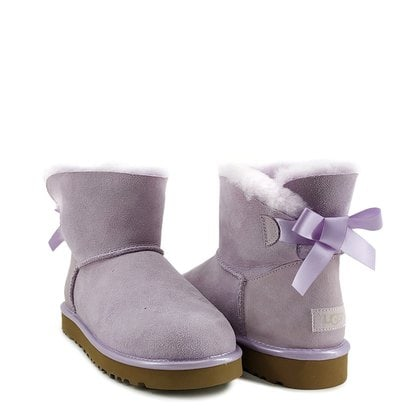 Угги UGG Mini Bailey Bow II Metallic Lavender Fog