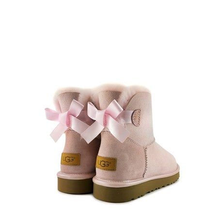 Угги UGG Mini Bailey Bow II Metallic Seashell Pink