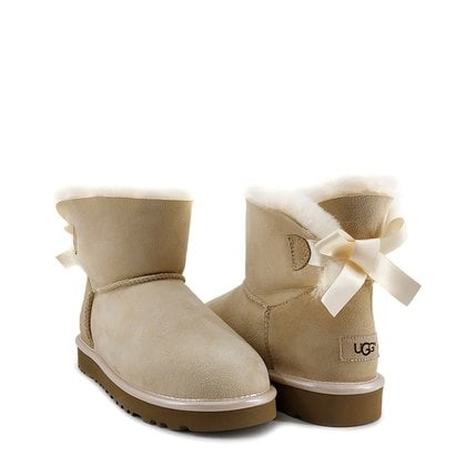 Угги UGG Mini Bailey Bow II Metallic Slate