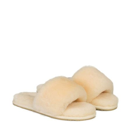 Тапочки UGG Fluff Slide Slippers Sand