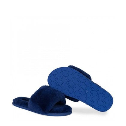 Тапочки UGG Fluff Slide Slippers Navy