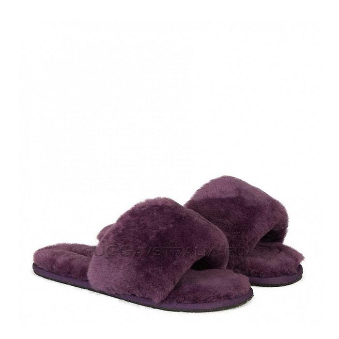 Женские тапочки UGG Fluff Slide Slippers Violet