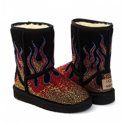 Угги UGG Jeremy Scott Crystal Flame Black