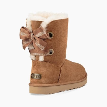 Угги UGG Bailey Bow Customizable Chestnut