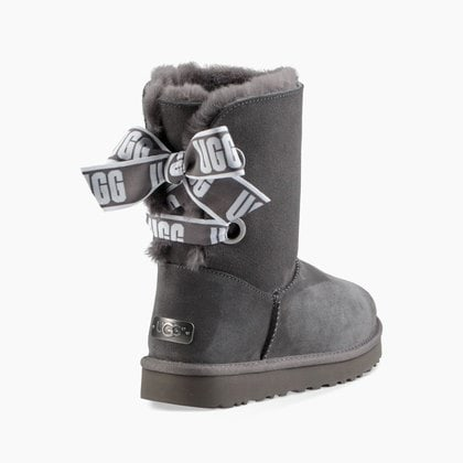 Угги UGG Bailey Bow Customizable Charcoal