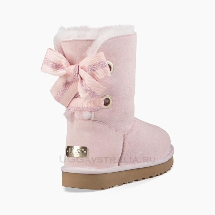 Женские полусапожки UGG Bailey Bow Customizable Seashell Pink