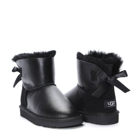Угги UGG Mini Bailey Bow Metallic Black