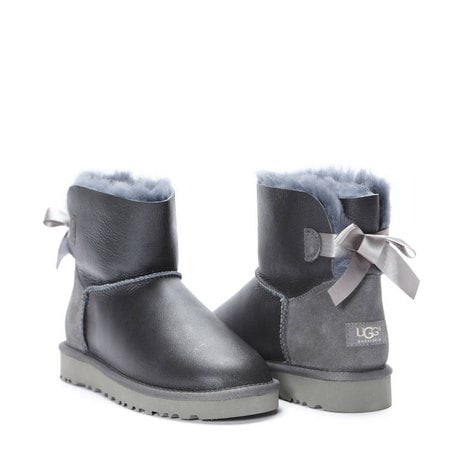 Угги UGG Mini Bailey Bow Metallic Grey