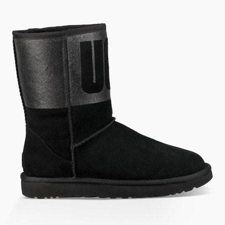 Угги UGG Classic Short Sparkle Boot Black
