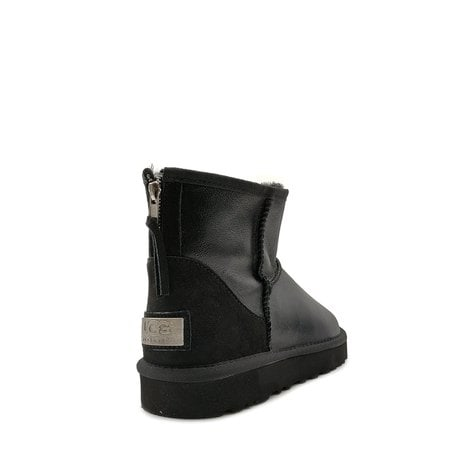 Угги UGG Mens Classic Mini Zip Metallic Black