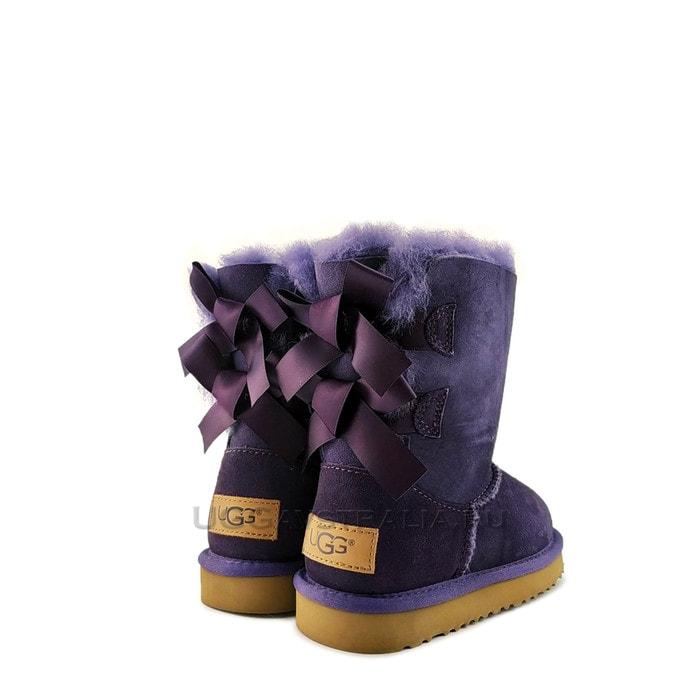 Детские полусапожки UGG Kids Bailey Bow II Purple