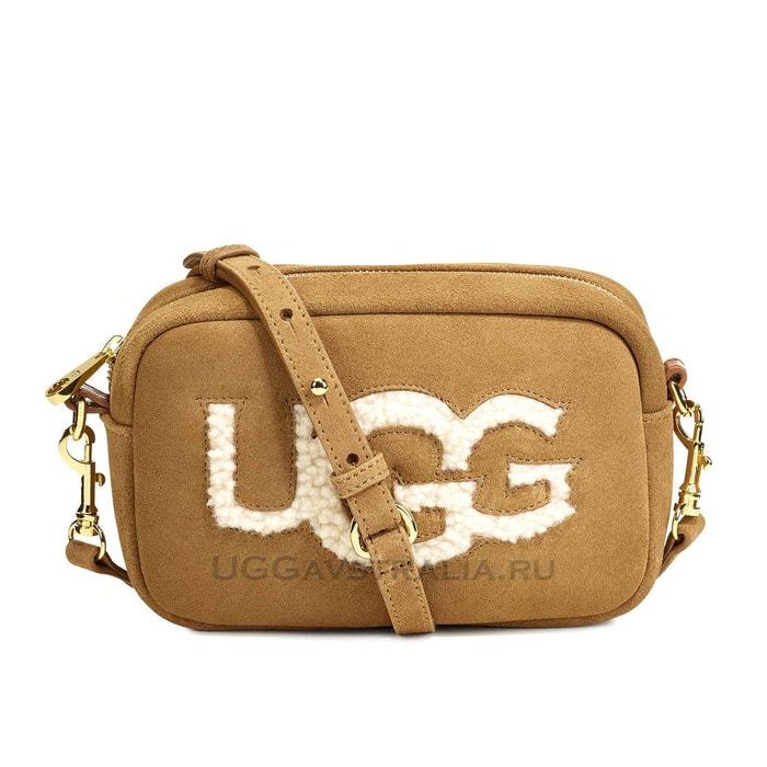 Женская сумочка UGG Janey Sheepskin Crossbody Chestnut
