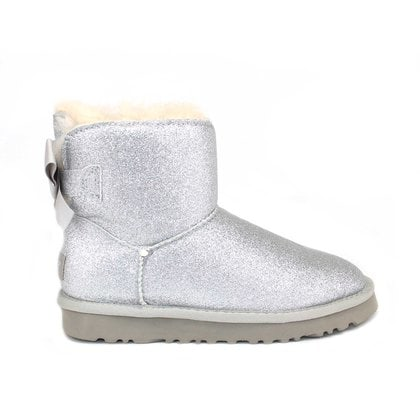 Угги UGG Mini Bailey Bow Sparkle Silver