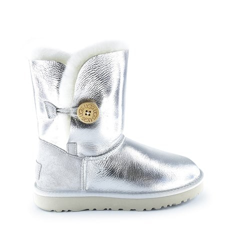 Угги UGG Bailey Button Metallic Silver