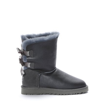 Угги UGG Bailey Bow Metallic Grey
