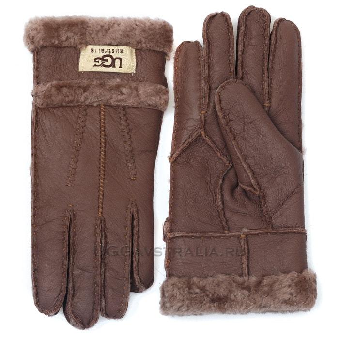 Женские перчатки UGG Glove Tenney Chocolate