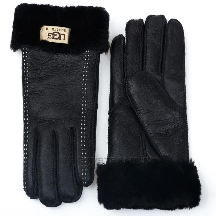 Женские перчатки UGG Classic Glove Black/White