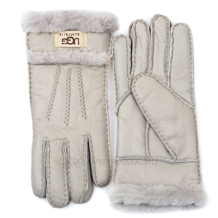 Женские перчатки UGG Glove Three Rays Light Grey