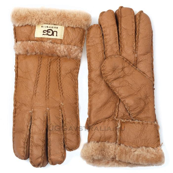 Женские перчатки UGG Glove Three Rays Chestnut