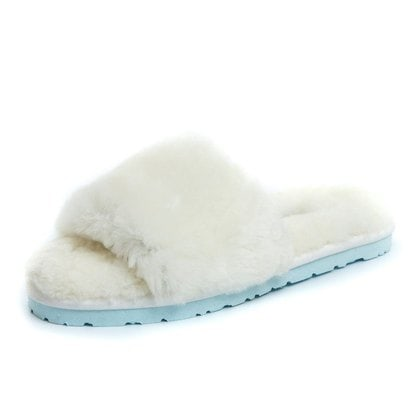 Тапочки UGG Fluff Slide Slippers White
