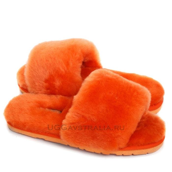 Женские тапочки UGG Fluff Slide Slippers Orange