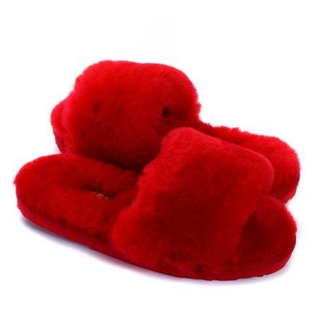 Тапочки UGG Fluff Slide Slippers Red