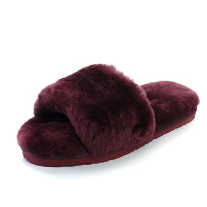 Тапочки UGG Fluff Slide Slippers Dark Purple