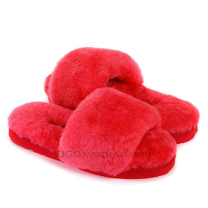 Женские тапочки UGG Fluff Slide Slippers Watermelon Red