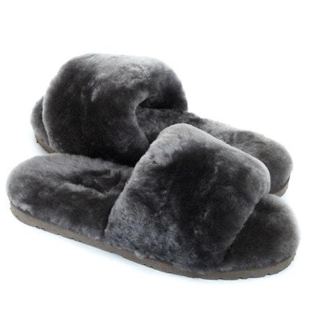 Тапочки UGG Fluff Slide Slippers Grey