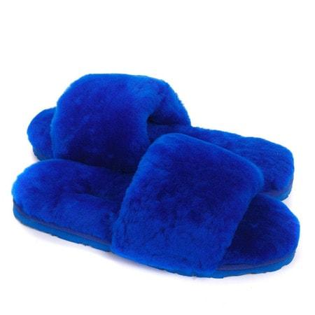Тапочки UGG Fluff Slide Slippers Blue