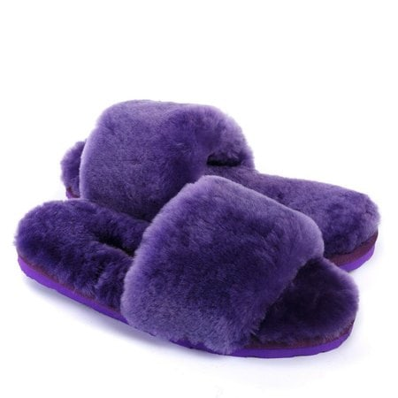 Тапочки UGG Fluff Slide Slippers Purple