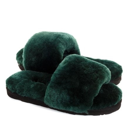 Тапочки UGG Fluff Slide Slippers Dark Green