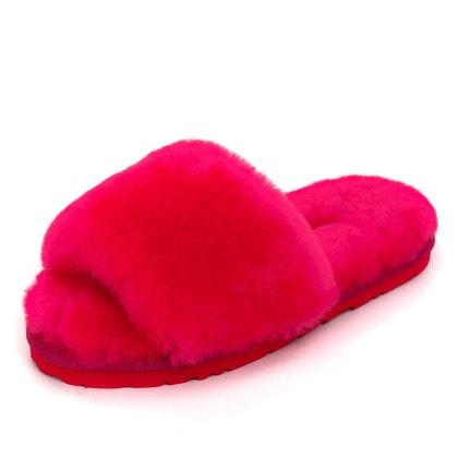 Тапочки UGG Fluff Slide Slippers Rose Red