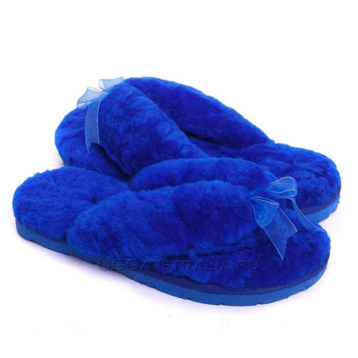Женские тапочки UGG Fluff Flip Flop II Blue
