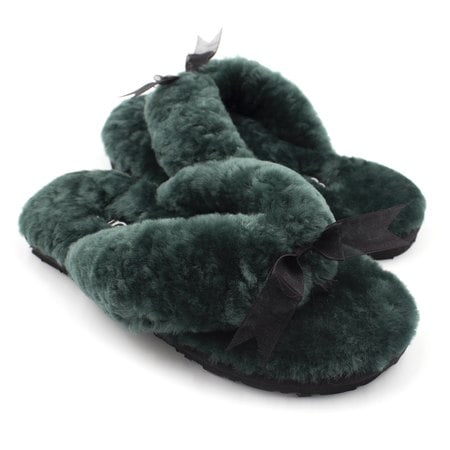 Тапочки UGG Fluff Flip Flop II Dark Green
