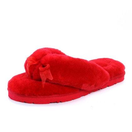 Тапочки UGG Fluff Flip Flop II Red