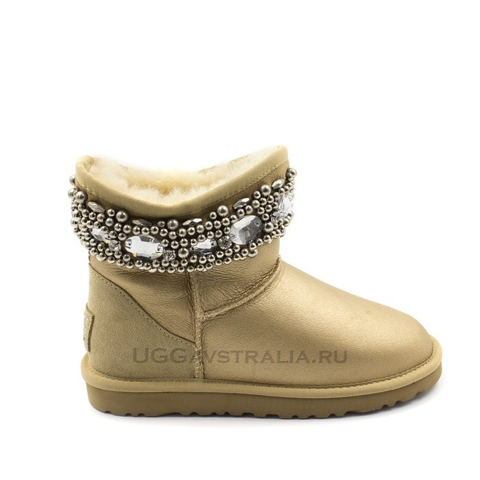 Женские полусапожки UGG Jimmy Choo Crystals Soft Gold