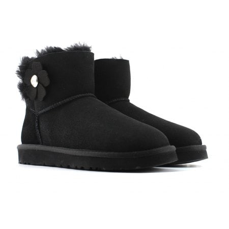 Угги UGG Mini Bailey Button Poppy Boot Black