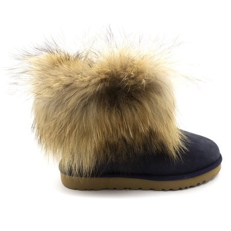 Угги UGG Mini Fox Fur Navy