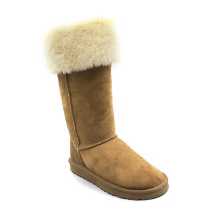 Угги UGG Over The Knee Bailey Button II Chestnut