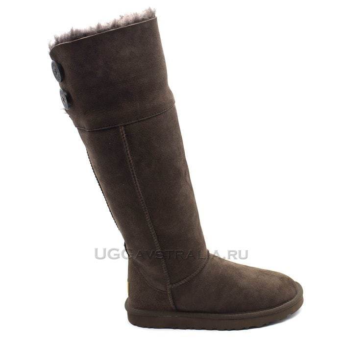 Женские полусапожки UGG Over The Knee Bailey Button II Chocolate