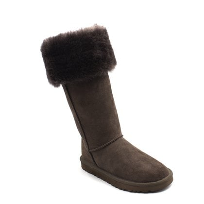 Угги UGG Over The Knee Bailey Button II Chocolate