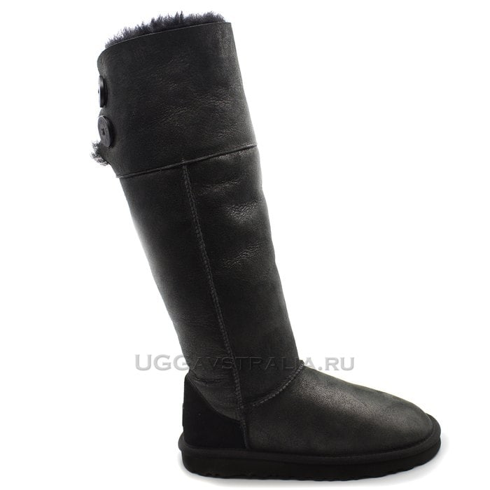 Женские полусапожки UGG Over The Knee Bailey Button II Bomber Black