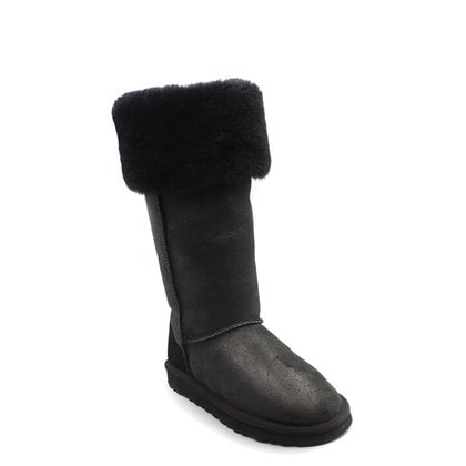 Угги UGG Over The Knee Bailey Button II Bomber Black