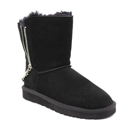Угги UGG Short Double Zip Black