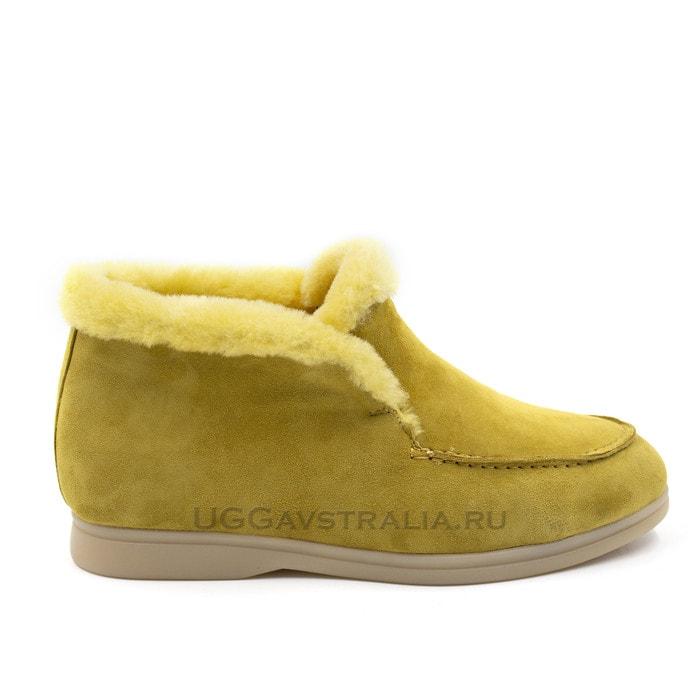 Женские ботинки Loro Piana Classic Yellow