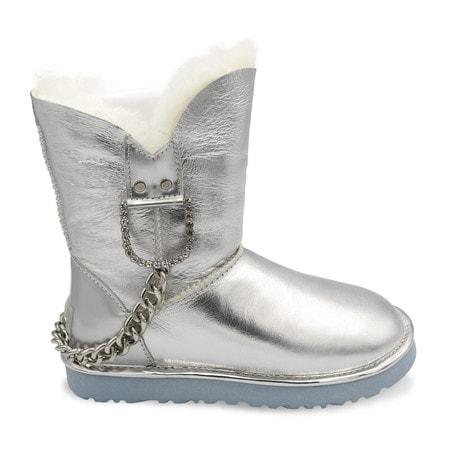 Угги UGG Chain Metallic Silver