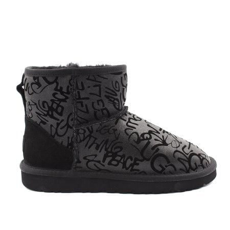 Угги UGG Classic Mini Sparkle Graffiti Black